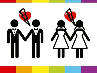 divorcio de lesbianas, divorcios de gays